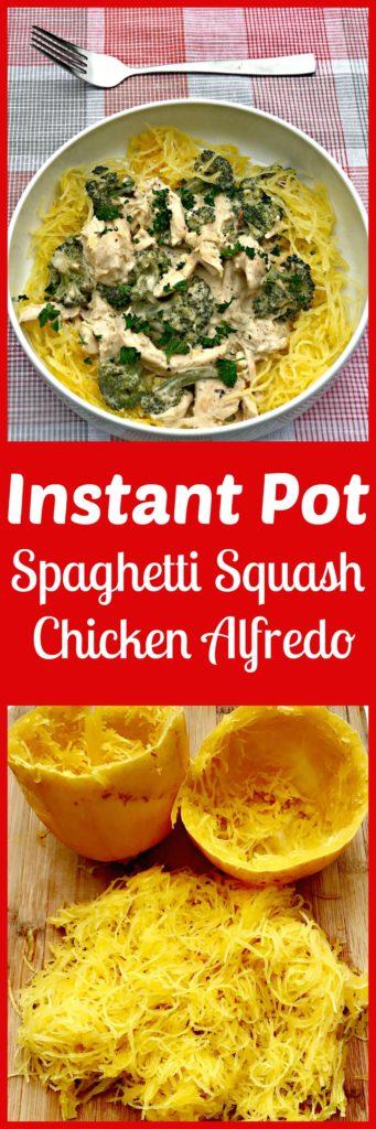 instant pot spaghetti squash chicken alfredo
