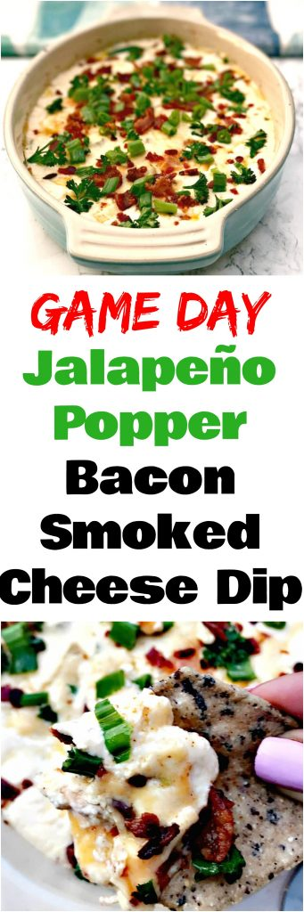Smoked Cheddar Jalapeño Popper Bacon Cheese Dip