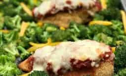 Healthy Sheet Pan Chicken Parmesan and Broccoli