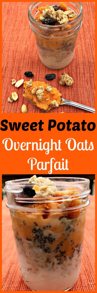 sweet potato overnight oats parfait