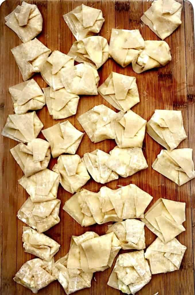 skinny healthy pineapple cream cheese wontons