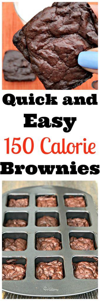150 cal low calorie healthy brownies