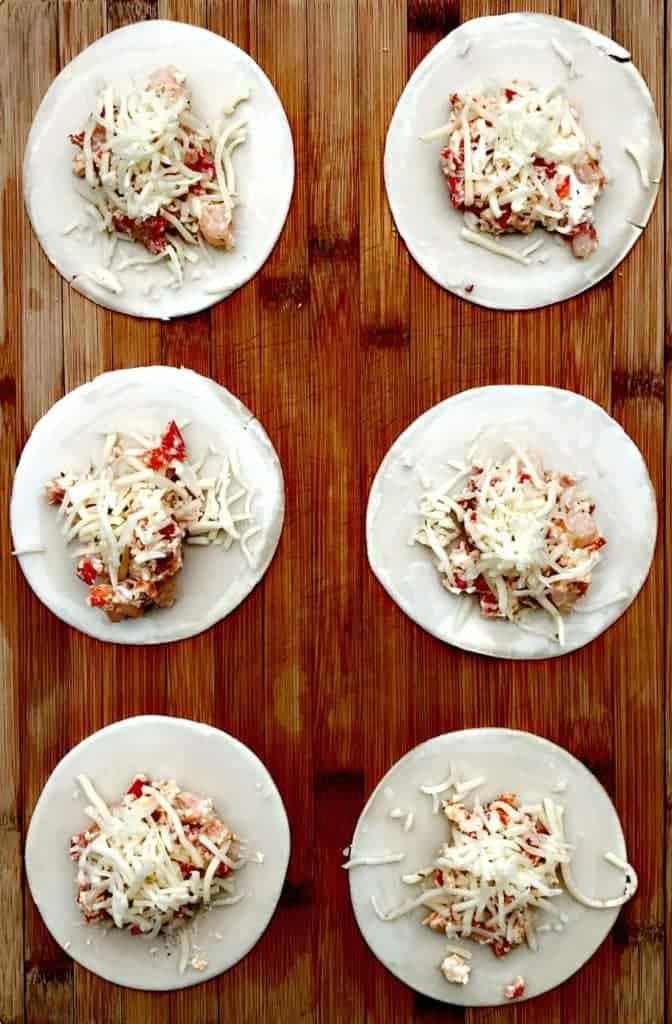 shrimp red pepper cream cheese empanadas
