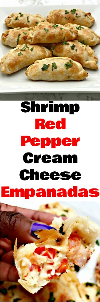 shrimp red pepper cream cheese empanadas