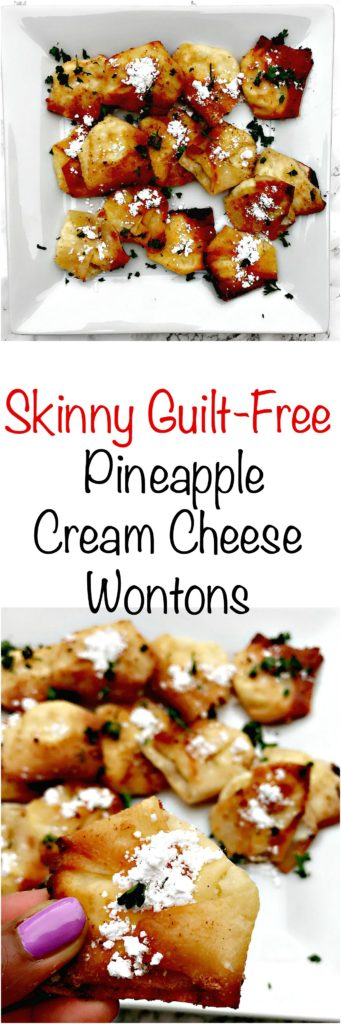 skinny guilt free pineapple cream cheese wontons