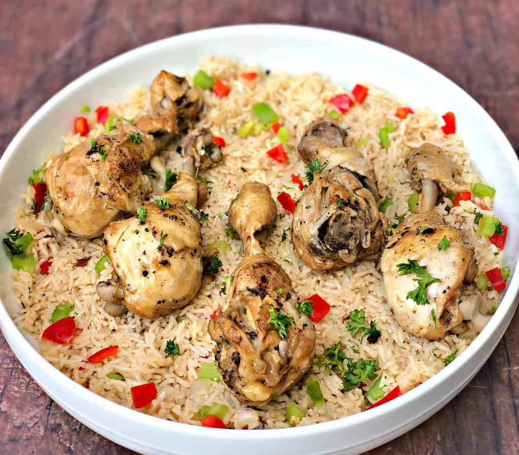Instant Pot Chicken Drumsticks And Rice Arroz Con Pollo