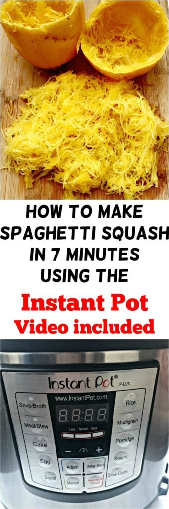 how to make spaghetti squash in 7 minutes using the Instant Pot