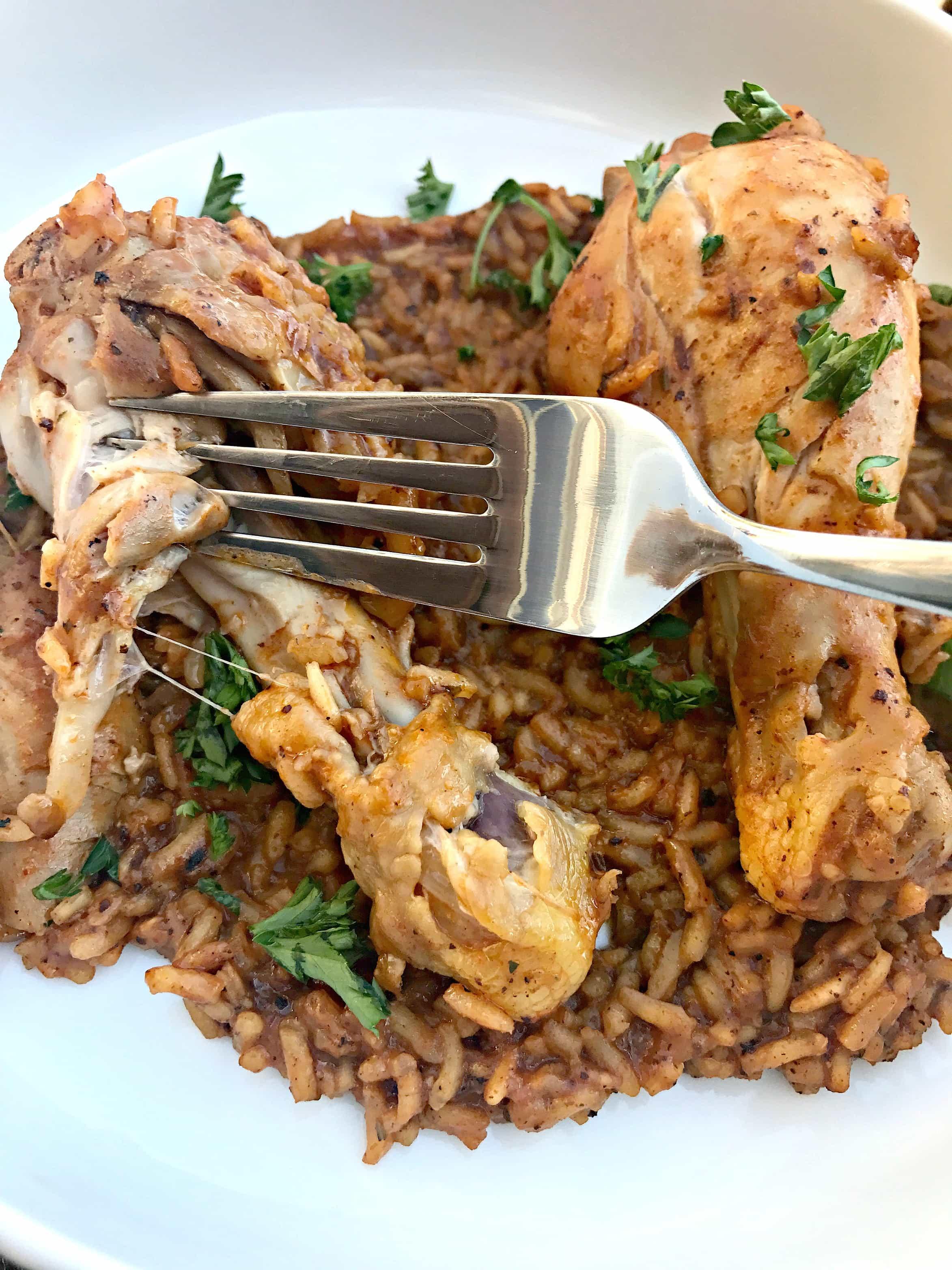 Instant Pot Chicken Drumsticks With Rice Arroz Con Pollo