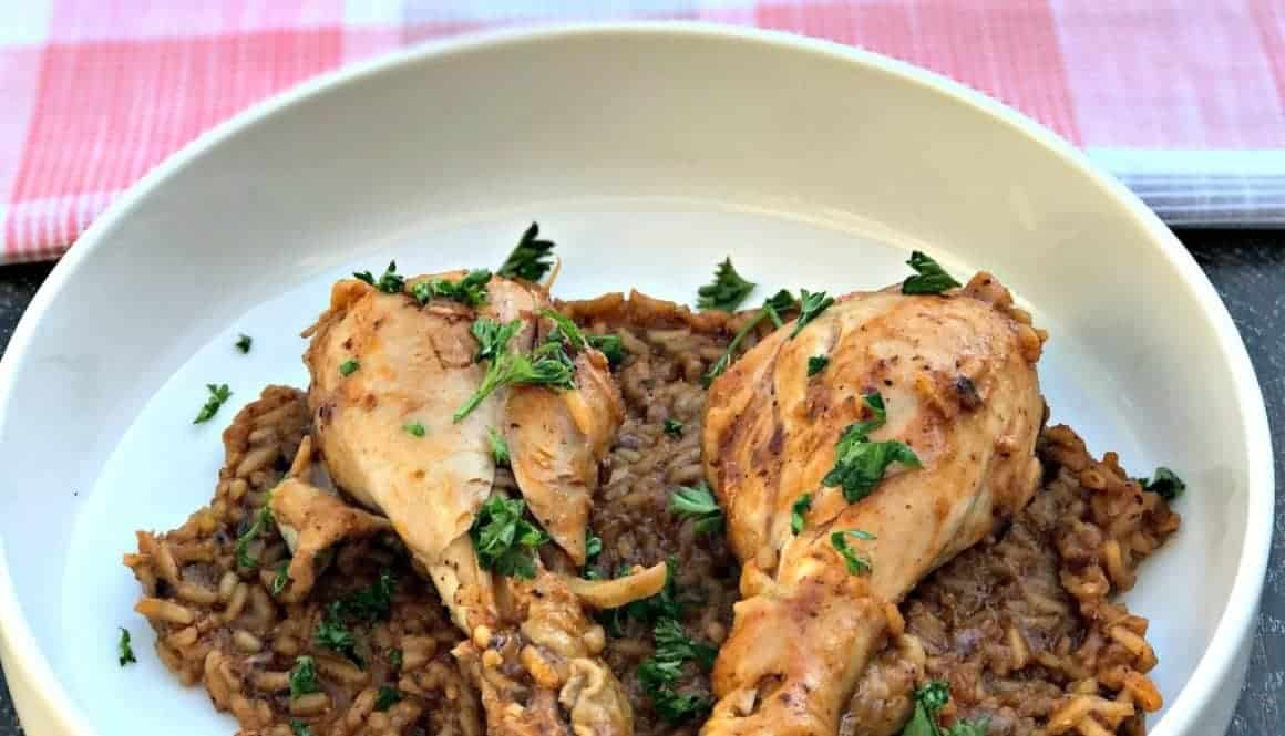 instant pot chicken drumsticks with rice arroz con pollo