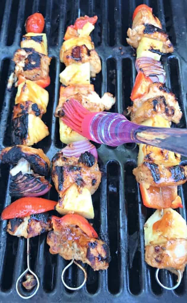 Hawaiian pineapple chicken skewers