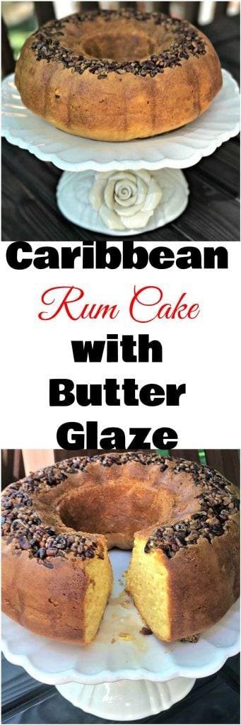 rum cake with butter glaze