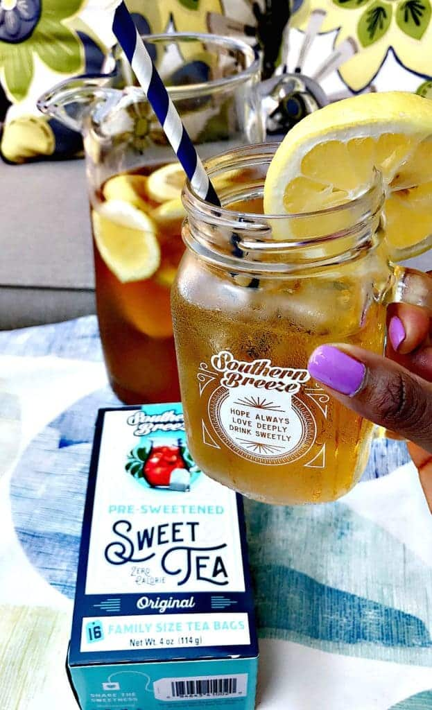 sweet tea lemon bourbon cocktail