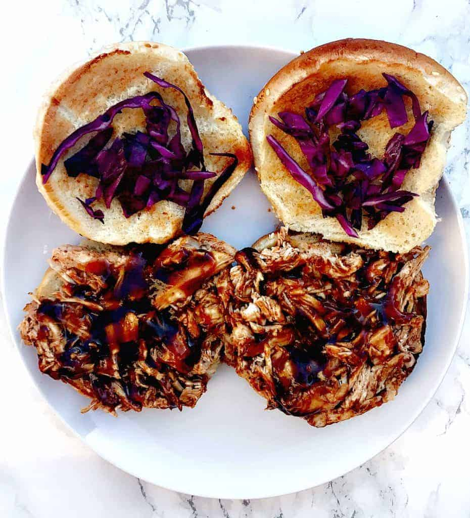 instant pot bbq pulled chicken sandwiches
