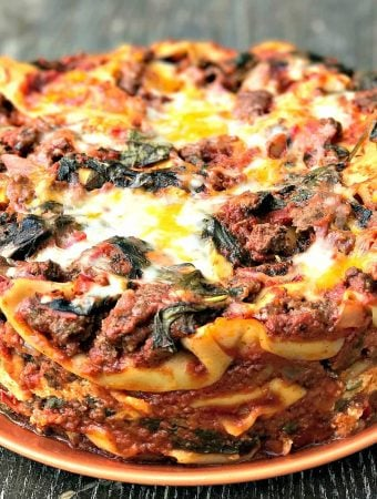 Easy Instant Pot Pressure Cooker Spinach Lasagna