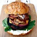 Truffle Oil Mushroom Onion Burger