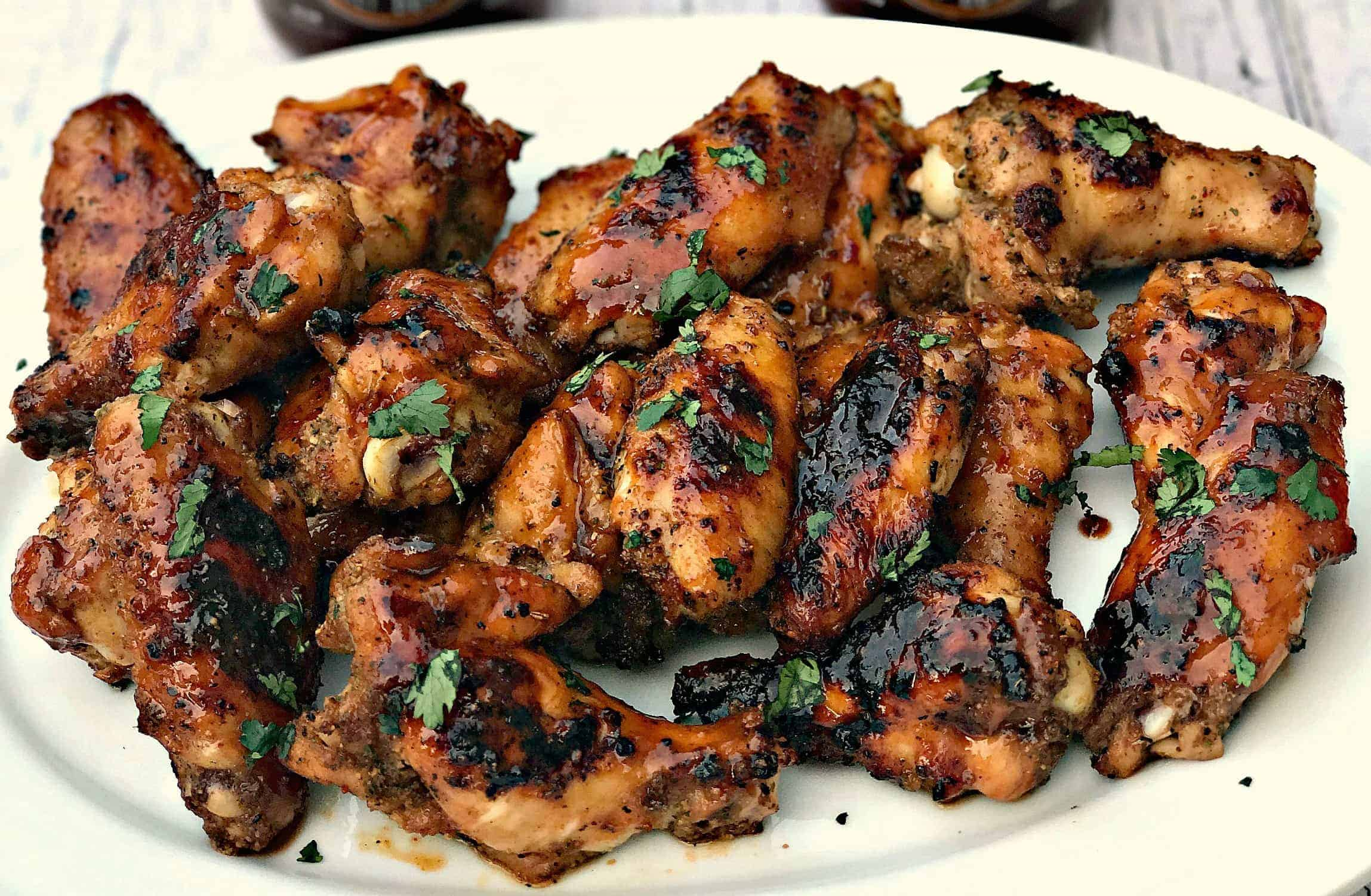 Bbq Sauce Ranch Grilled Chicken Wings