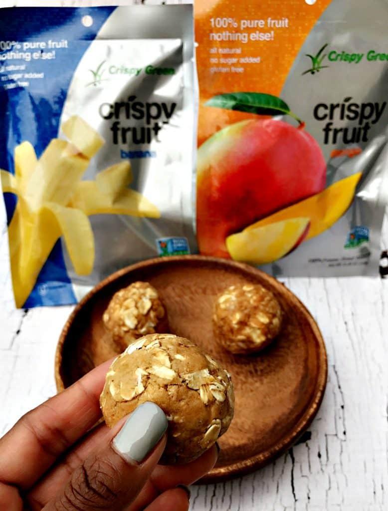 peanut butter banana protein energy balls