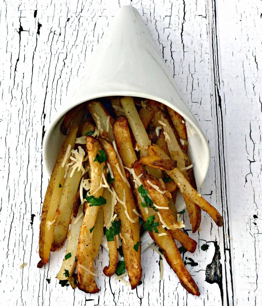 air fryer parmesan truffle oil fries