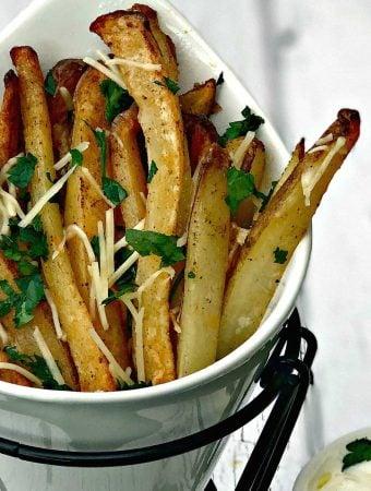 air fryer parmesan truffle oil fries