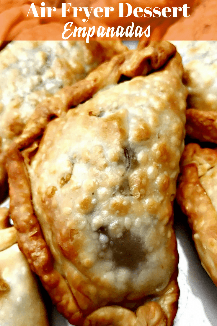 Air Fryer Apple Cinnamon Dessert Empanadas (Hand Pies) is a quick and easy low-fat recipe that makes the perfect treat for any occasion. Even the kids will love them! Less than 20 minutes of cook time!