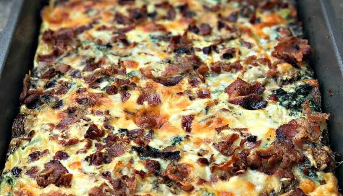 Bacon Ranch, Potato, Egg, and Spinach Breakfast Casserole