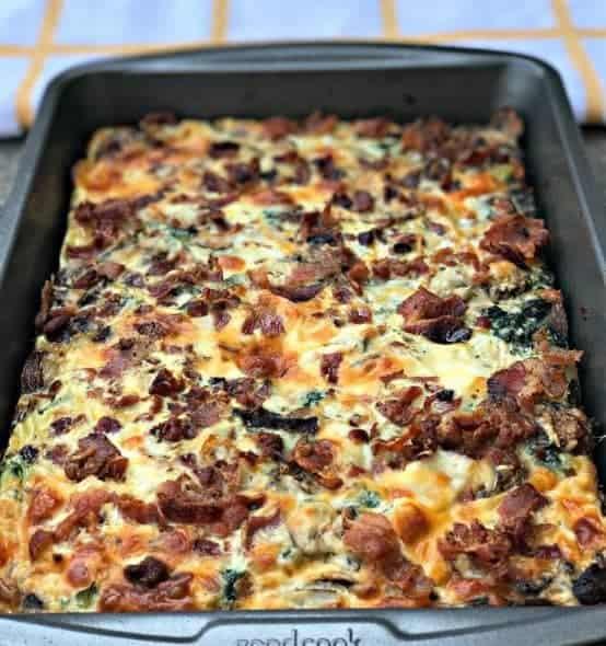 Bacon Ranch, Potato, Egg, and Spinach Breakfast Casserole