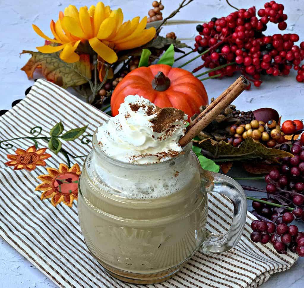 instant pot starbucks copy cat skinny pumpkin spice latte