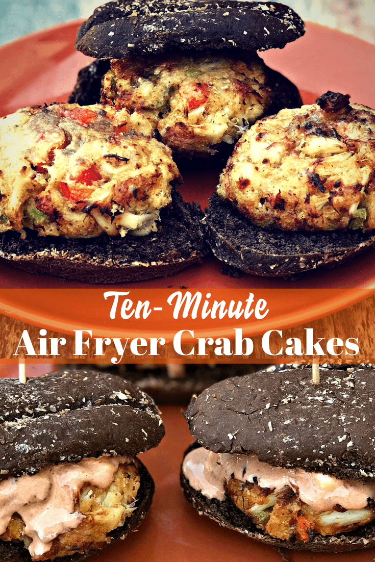 Air Fryer Fifteen Minute Old Bay Crab Cake Sliders is a quick and easy, healthy, low-calorie air fried seafood recipe made with jumbo lump crab meat. #AirFryer #AirFryerRecipes #Sliders #CrabCakes #Seafood #SeafoodRecipes #GameDayRecipes #PartyRecipes #Appetizers