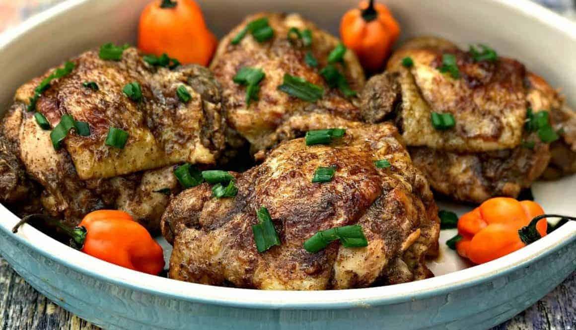 instant pot Jamaican jerk chicken thighs
