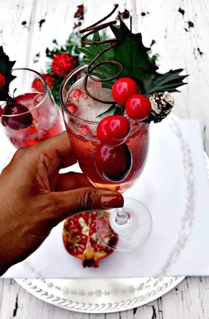 Pomegranate Holiday Mimosas