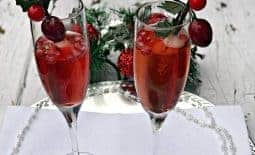 Pomegranate Holiday Mimosas