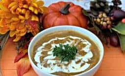 Instant Pot Pumpkin Spice and Sweet Potato Soup