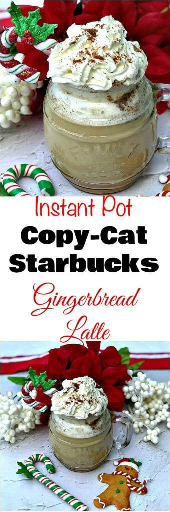 Instant Pot 100 Low-Calorie Copy-Cat Starbucks Gingerbread Latte