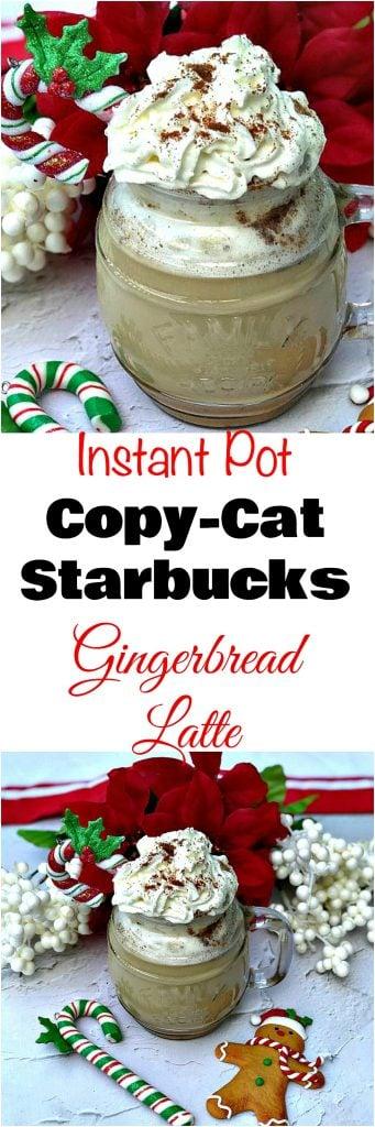 Instant Pot 100 Low Calorie Copy Cat Starbucks Gingerbread Latte
