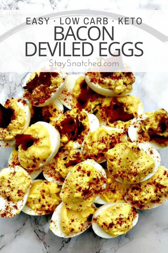keto low carb bacon deviled eggs
