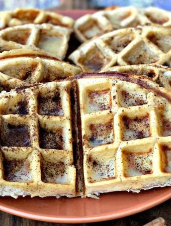 Easy Low-Carb Gluten-Free Cinnamon Roll Protein Waffles