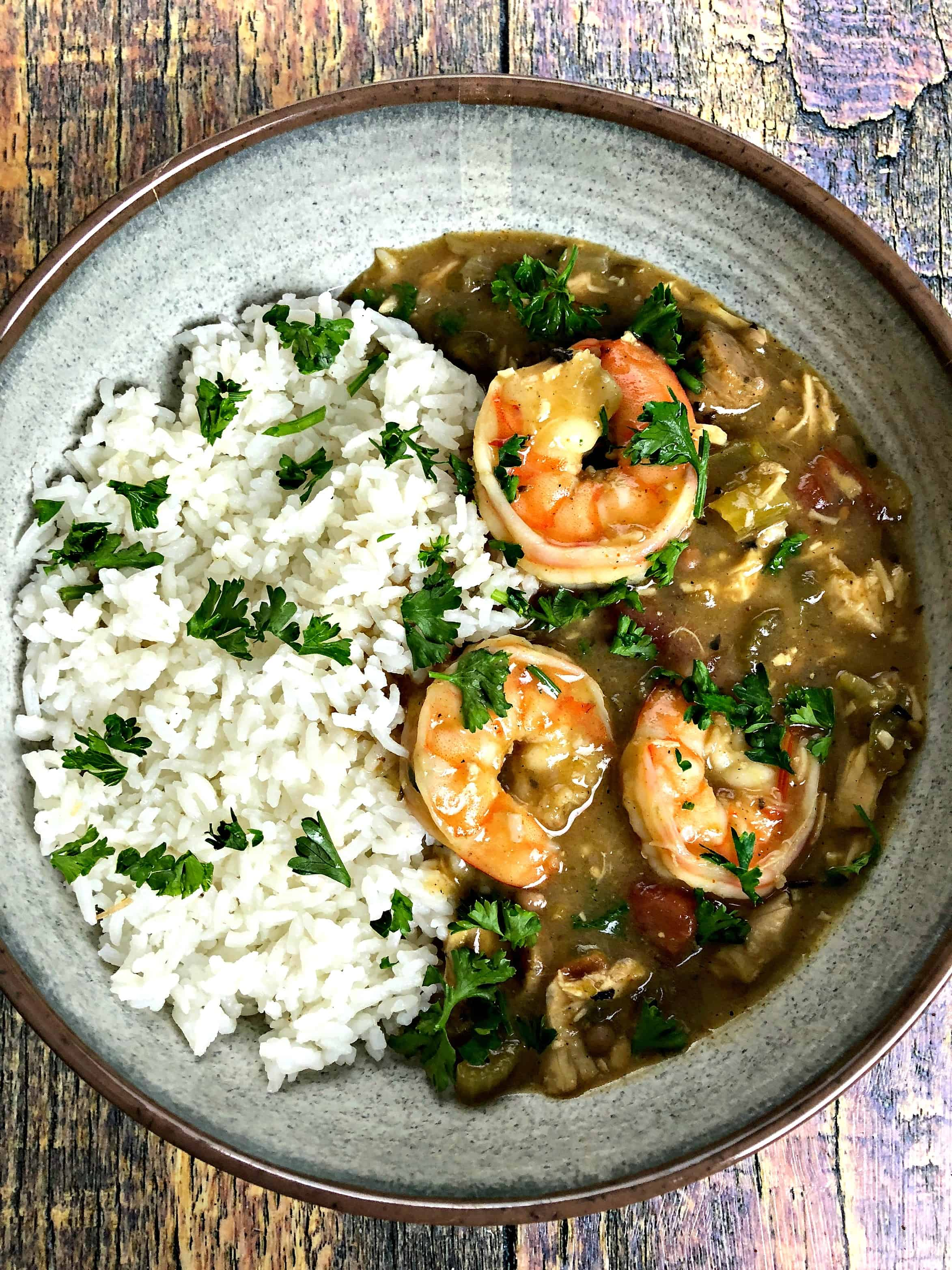 instant pot louisiana seafood chicken and sausage gumbo