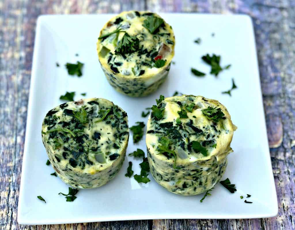 Instant Pot Low-Carb Dairy-Free Sous Vide Spinach and Chicken Sausage Egg Bites