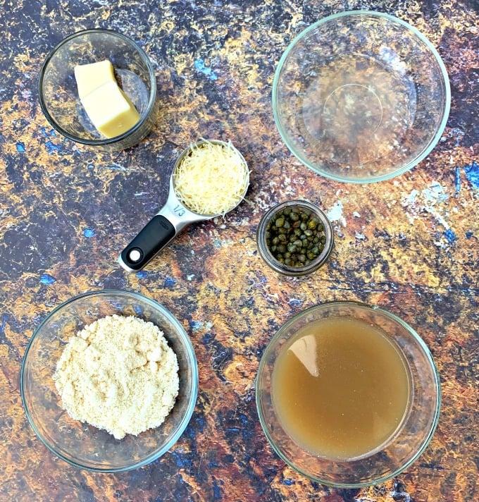 ingredients for keto lemon chicken piccata
