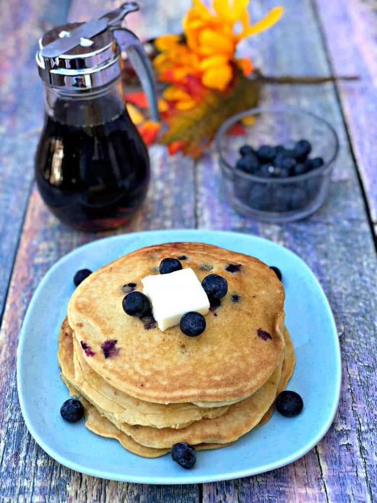 paleo gluten-free grain free blueberry pancakes