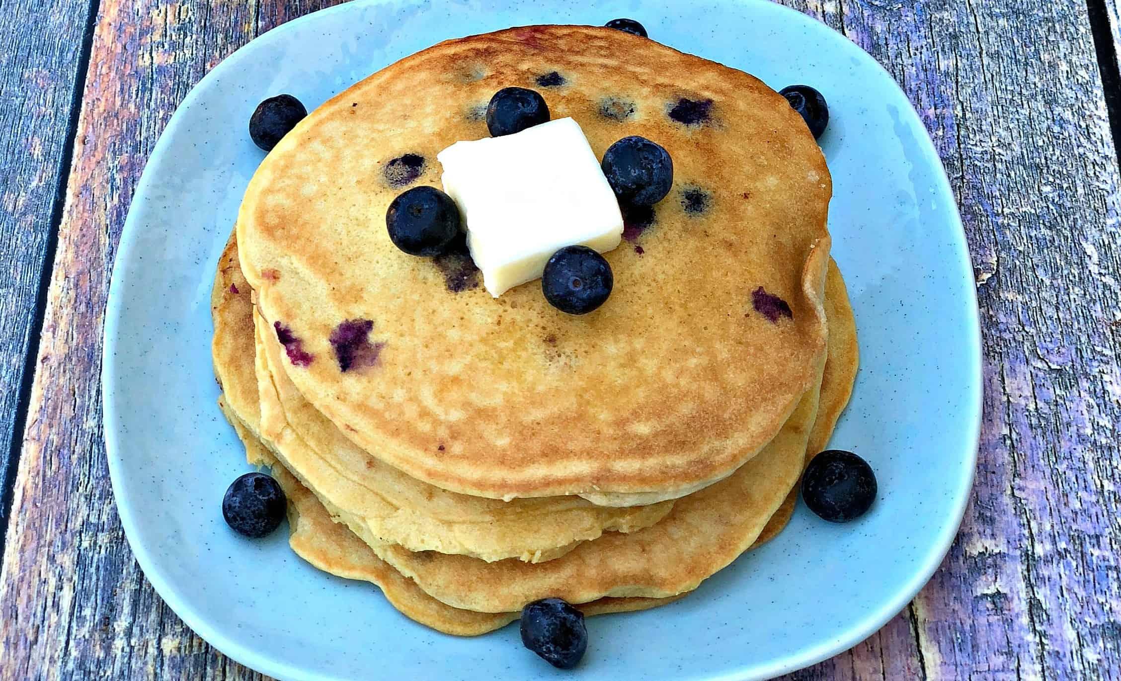 Paleo Gluten-Free Grain-Free Blueberry Pancakes