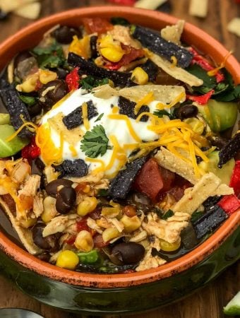 Easy, Instant Pot Chicken Tortilla Soup with {VIDEO}
