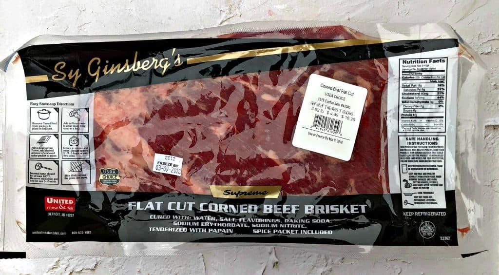 raw corned beef