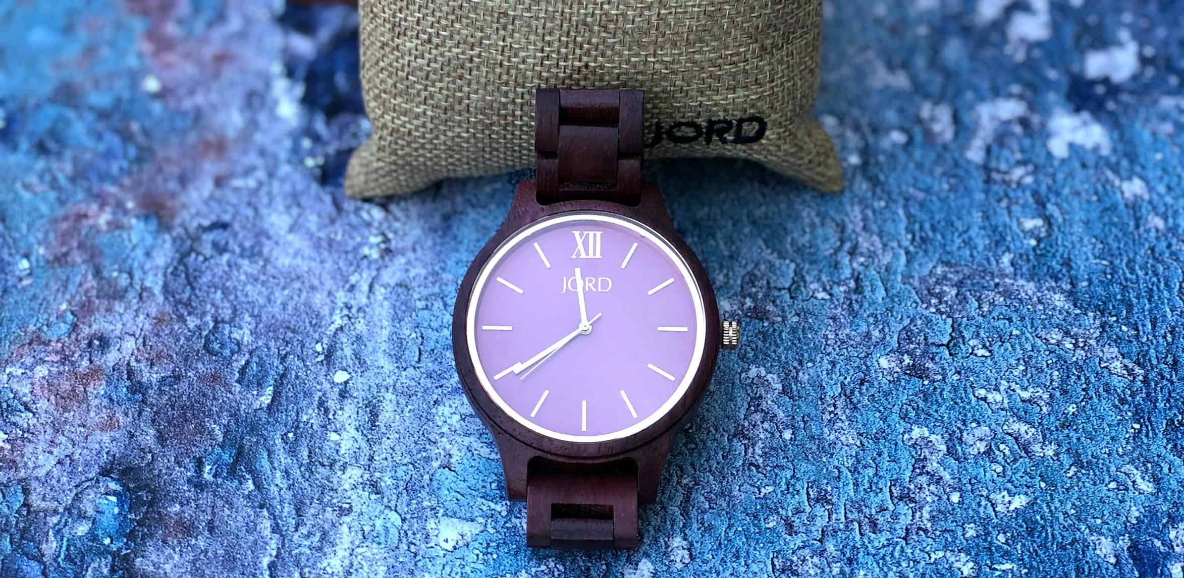 close up of jord watch