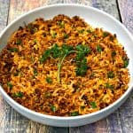 sweet potato hash browns in a white bowl