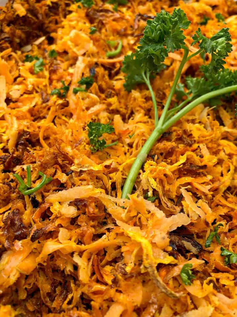 sweet potato hash browns with parsley