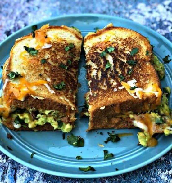 Grown-Up Guacamole Bacon Grilled Cheese Sandwich