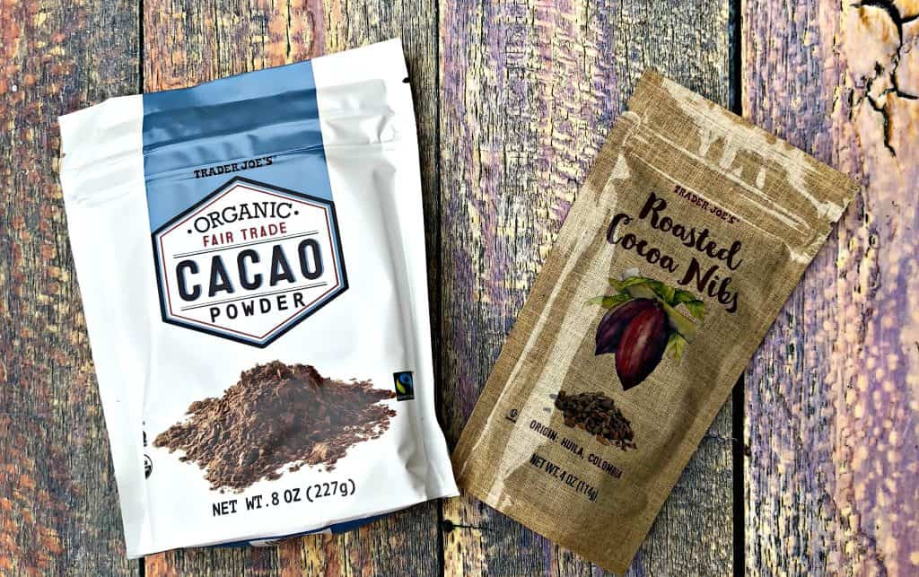 cacao powder and cacao nibs