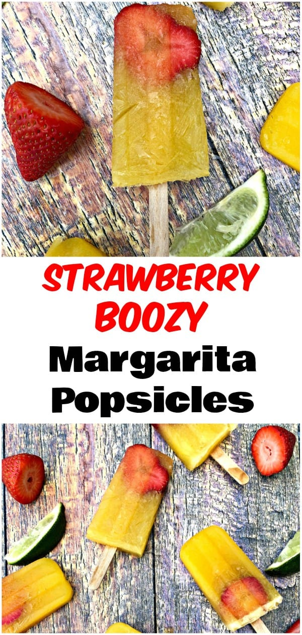 Frozen Strawberry Margarita Alcoholic Popsicles arethe perfect recipe for Cinco de Mayo, Taco Tuesday, and summer! These ice pops are so simple to make, you will only need 3 ingredients! You can replace yourfrozen cocktail with something that will make summer cookouts, parties, and events so much more fun! #Margaritas #Popsicles #FrozenMargaritas #Tequila