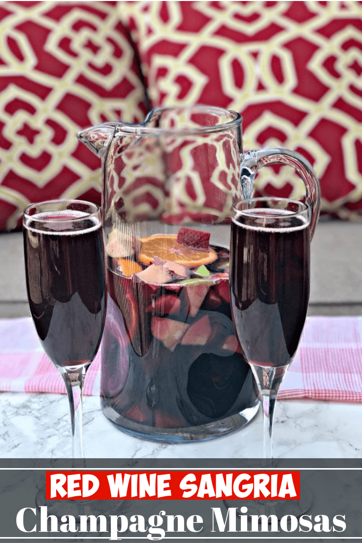 Red Wine Sangria Champagne Mimosas are the perfect cocktails for Cinco de Mayo, holidays, parties, and events. This recipe also includes instructions on how to make sangria.  Perfect for Thanksgiving, Christmas, New Years. #StaySnatched #HolidayCocktails #ChristmasCocktails #Sangria #Mimosas #Cocktails #FunCocktails #Mimosas #wine